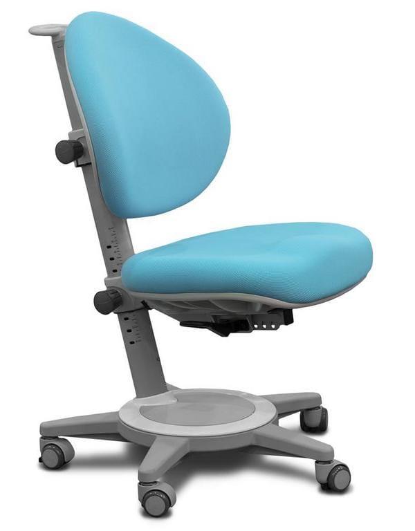 Кресло Mealux Cambridge (цвет обивки: голубой, цвет каркаса: серый)