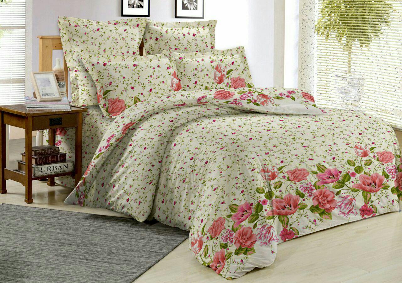 Комплект постельного белья ОН и ОНА, поплин, 2,0-спальный с простыней евро, P5-OS-029