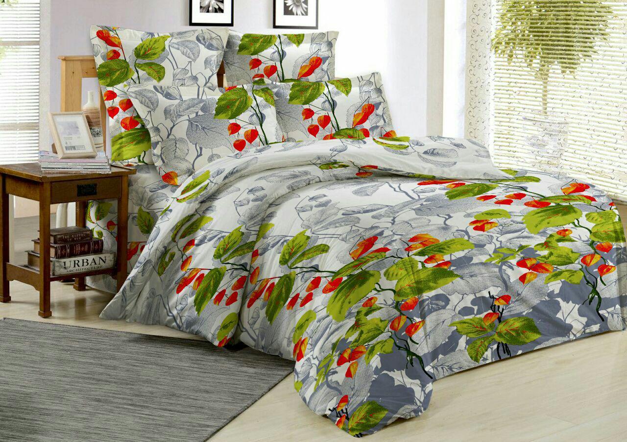 Комплект постельного белья ОН и ОНА, поплин, 2,0-спальный с простыней евро, P5-OS-013