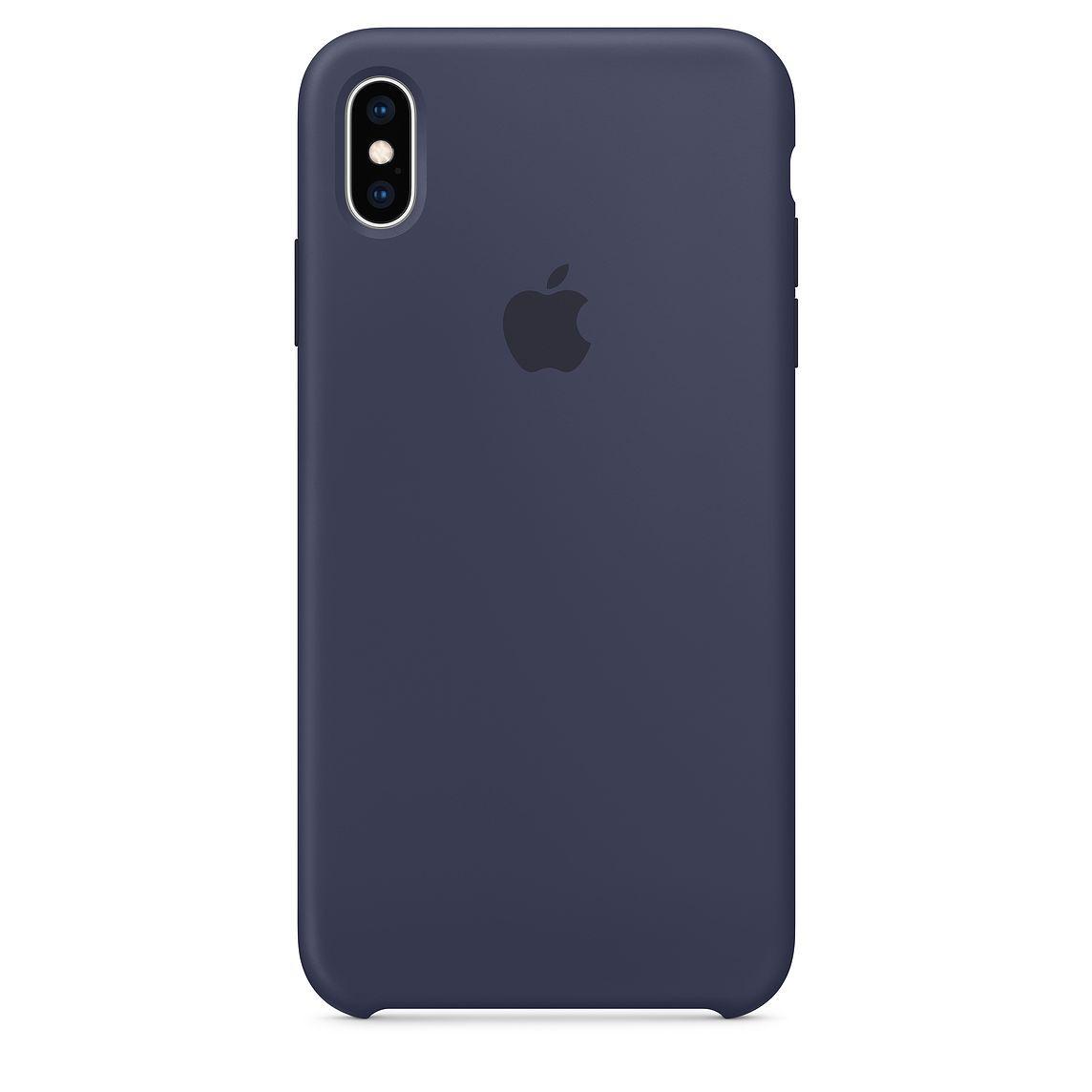Чехол Apple Silicone Case для iPhone XS Max, Midnight Blue все цены