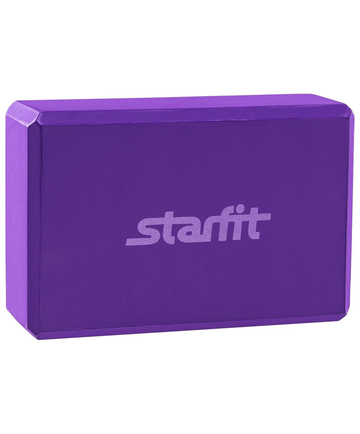 Блок для йоги Starfit FA-101 EVA фиолетовый блок для йоги star из eva 0 3 кг 7 8 см 22 5 см фиолетовый 15 см