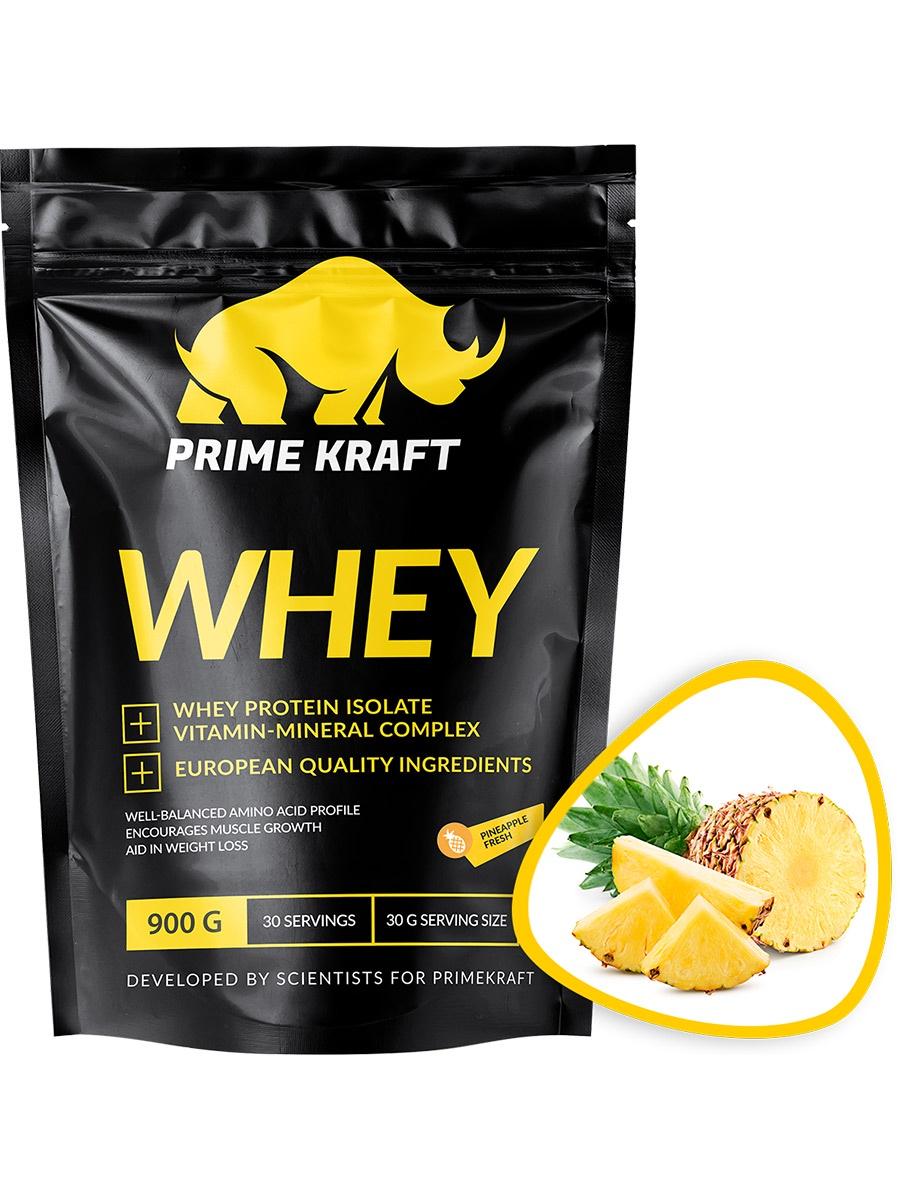 Специализированный пищевой продукт Prime Kraft Whey, ананасовый фреш, 900г