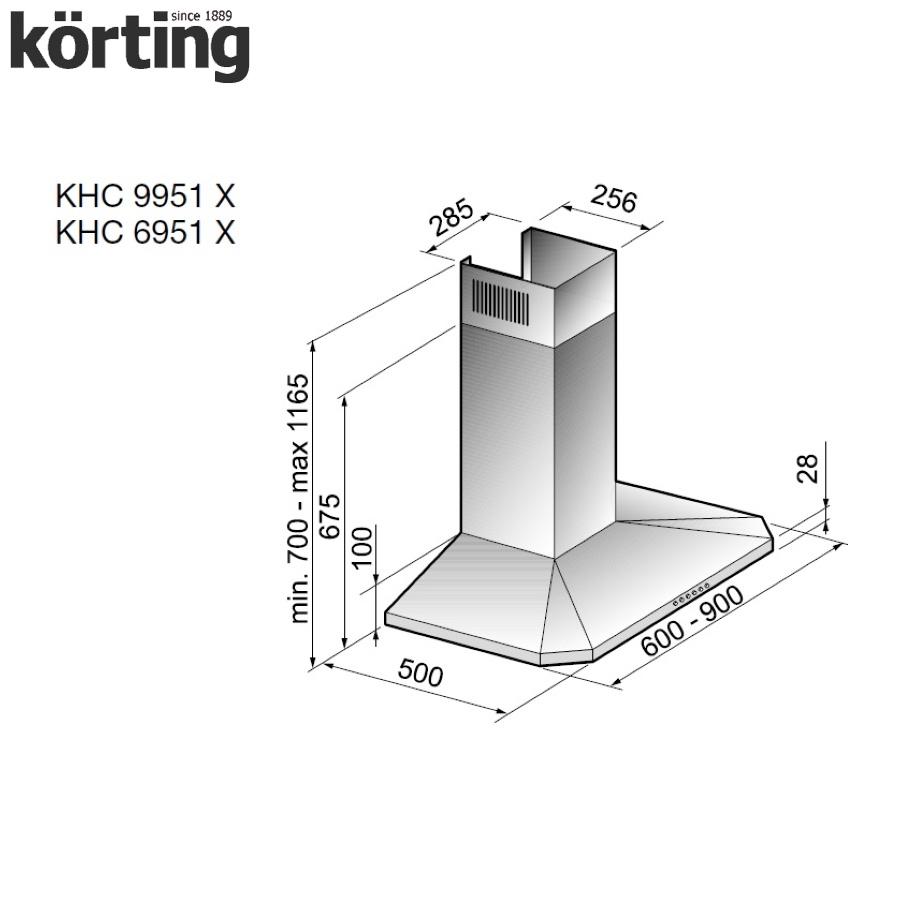 Купольная вытяжка Korting KHC 6951 X Korting