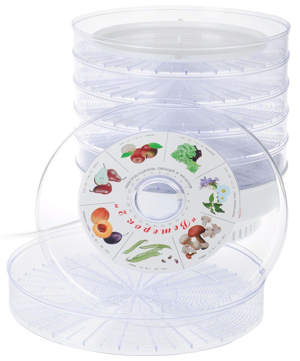 Ветерок-2 ЭСОФ-2-0,6/220 сушилка для овощей и фруктов (Прозрачный, 6 сит, гофра)