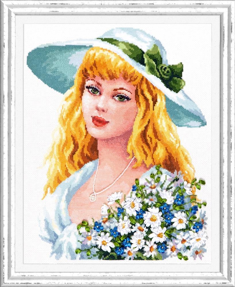 Твои зеленые глаза. Набор для вышивания крестом (Чудесная игла) 32 х 40 см. набор для вышивания крестом чудесная игла дольче вита 40 х 32 см
