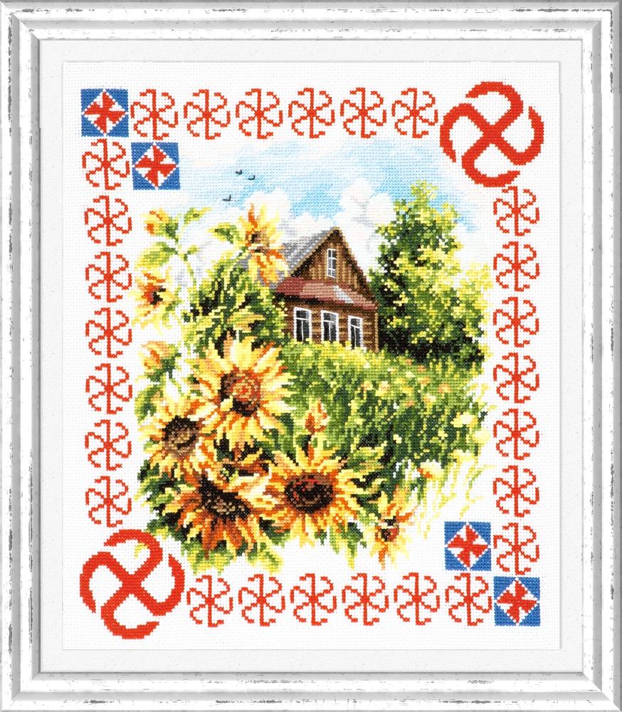 Защита дома. Набор для вышивания крестом (Чудесная игла) 28 х 33 см. набор для вышивания крестом чудесная игла цветочный чай 35 х 40 см