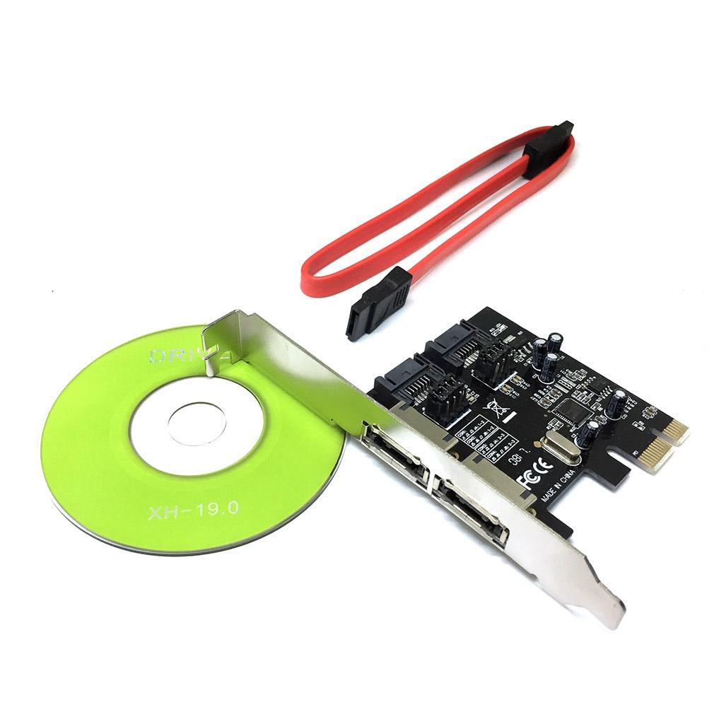 ES3A1061 Контроллер PCI-E, SATA3 2 внут + внеш порта, чип ASM1061, Espada