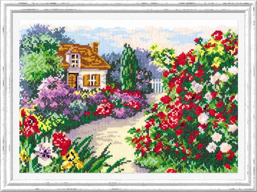 Цветущий сад. Набор для вышивания крестом (Чудесная игла) 29 х 20 см. набор для вышивания крестом чудесная игла яркое сияние 8 х 11 см