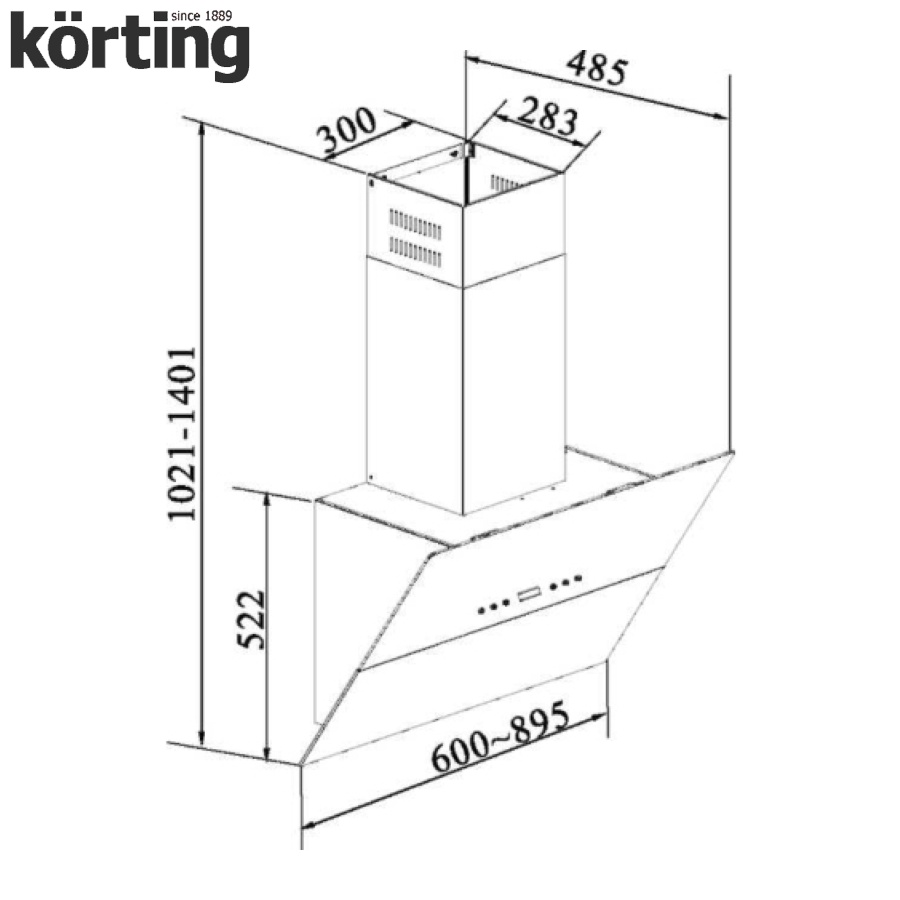 Наклонная вытяжка Korting KHC 91090 GW Korting
