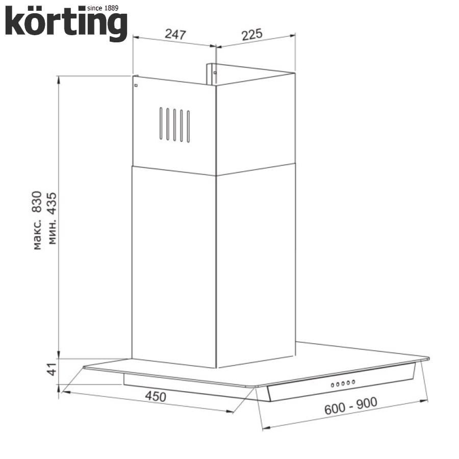 Купольная вытяжка Korting KHC 9634 GX Korting