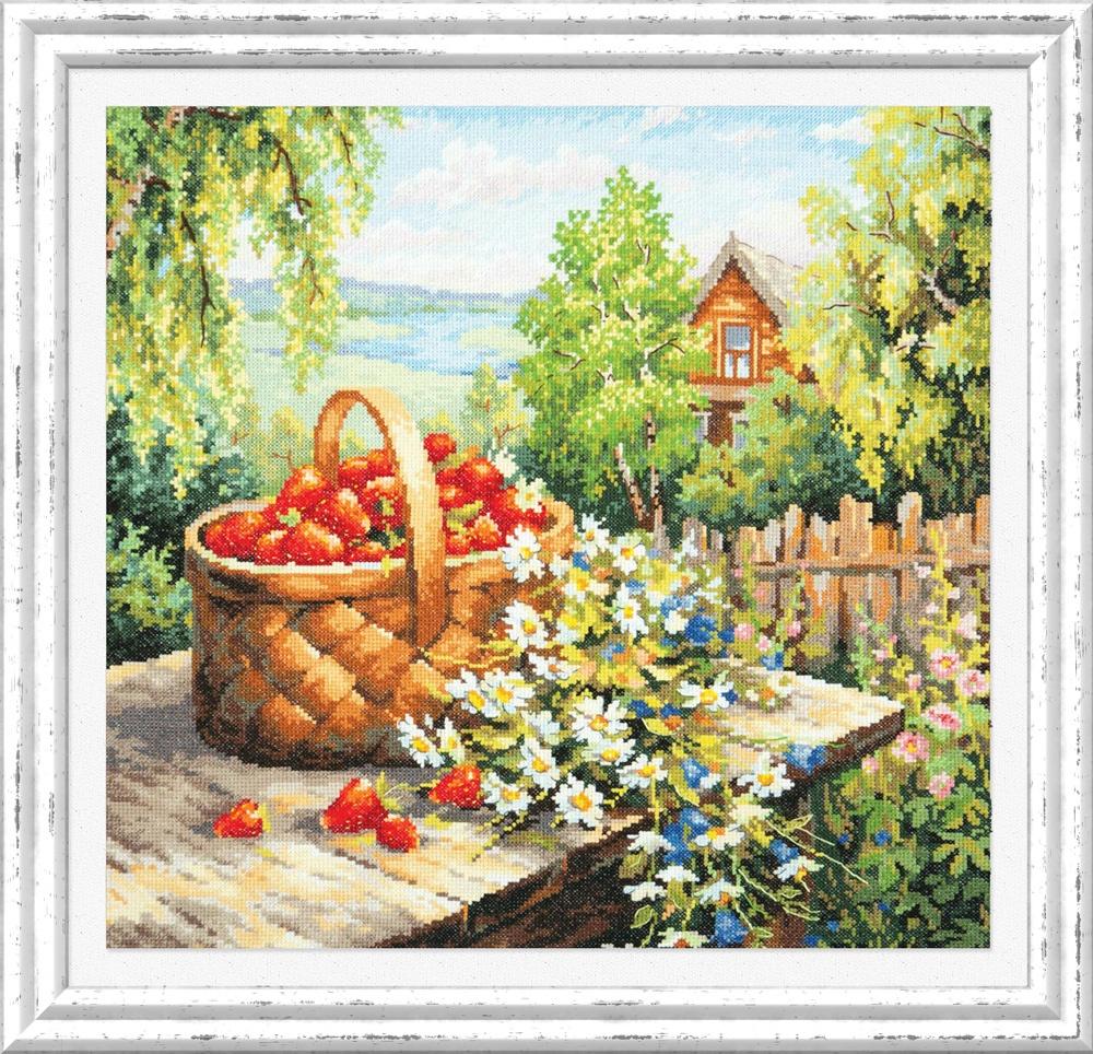 Любимая дача. Набор для вышивания крестом (Чудесная игла) 40 х 40 см. набор для вышивания крестом хрустальная бабочка 31 см х 40 см