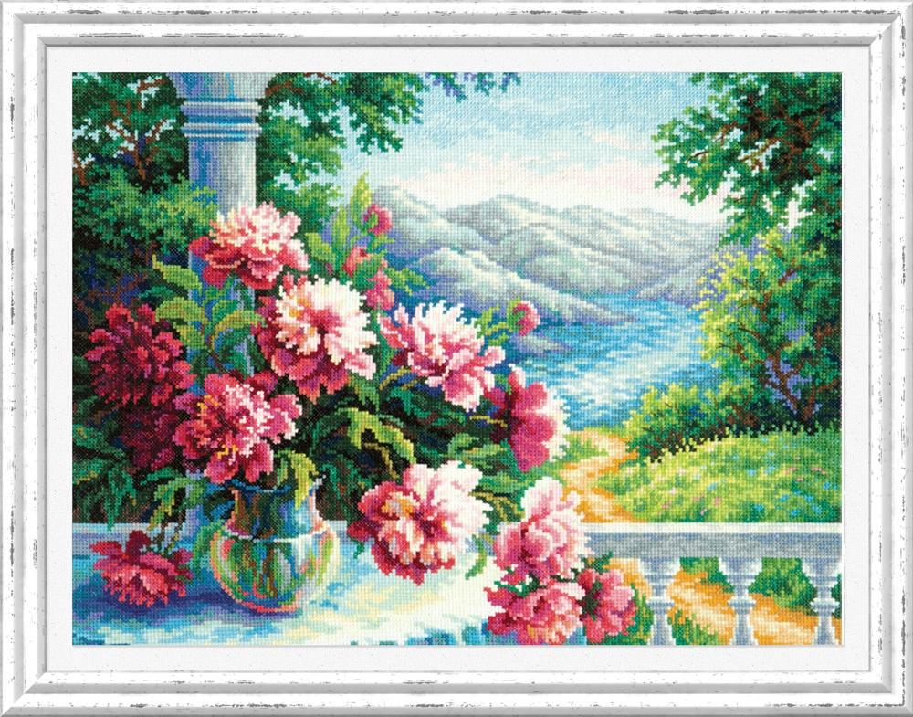 Пьянящий аромат. Набор для вышивания крестом (Чудесная игла) 40 х 30 см. набор для вышивания крестом чудесная игла цветочный чай 35 х 40 см