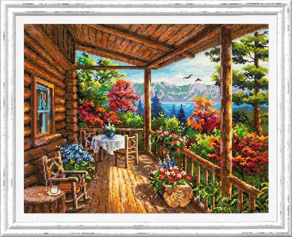 Комарово. Набор для вышивания крестом (Чудесная игла) 40 х 33 см. набор для вышивания крестом чудесная игла цветочный чай 35 х 40 см