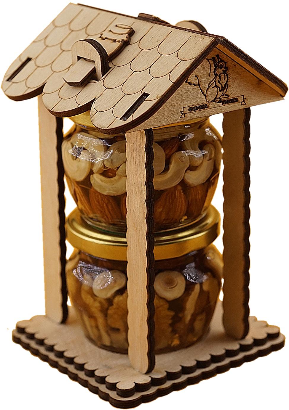 Ассорти из орехов в меду в сувенирной упаковке 360 гр