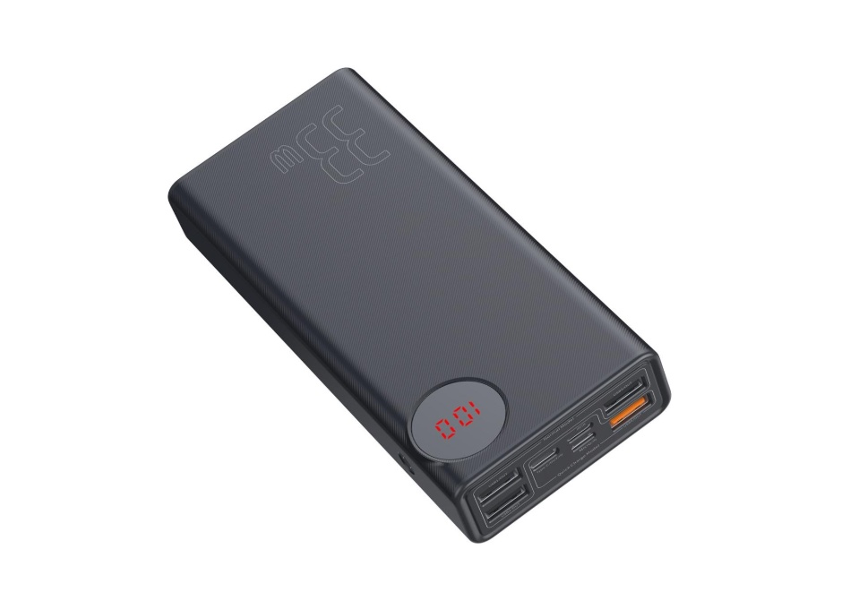 Внешний аккумулятор Baseus Mulight Quick Charge Power Bank 30000mAh PPMY-01 (Black) аккумулятор red line r 3000 power bank 3000mah black ут000008703
