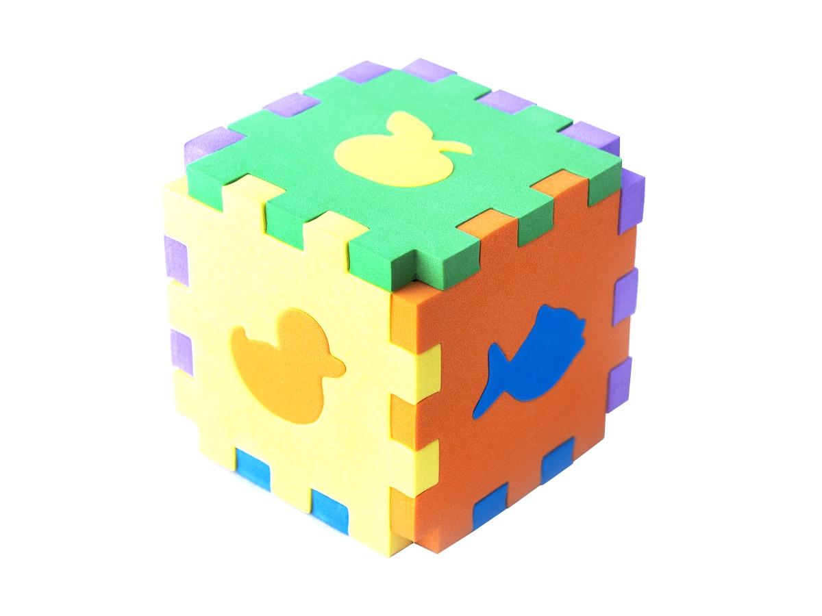 Кубик сортер: первые игрушки stellar развивающая игра сортер логический кубик 01314