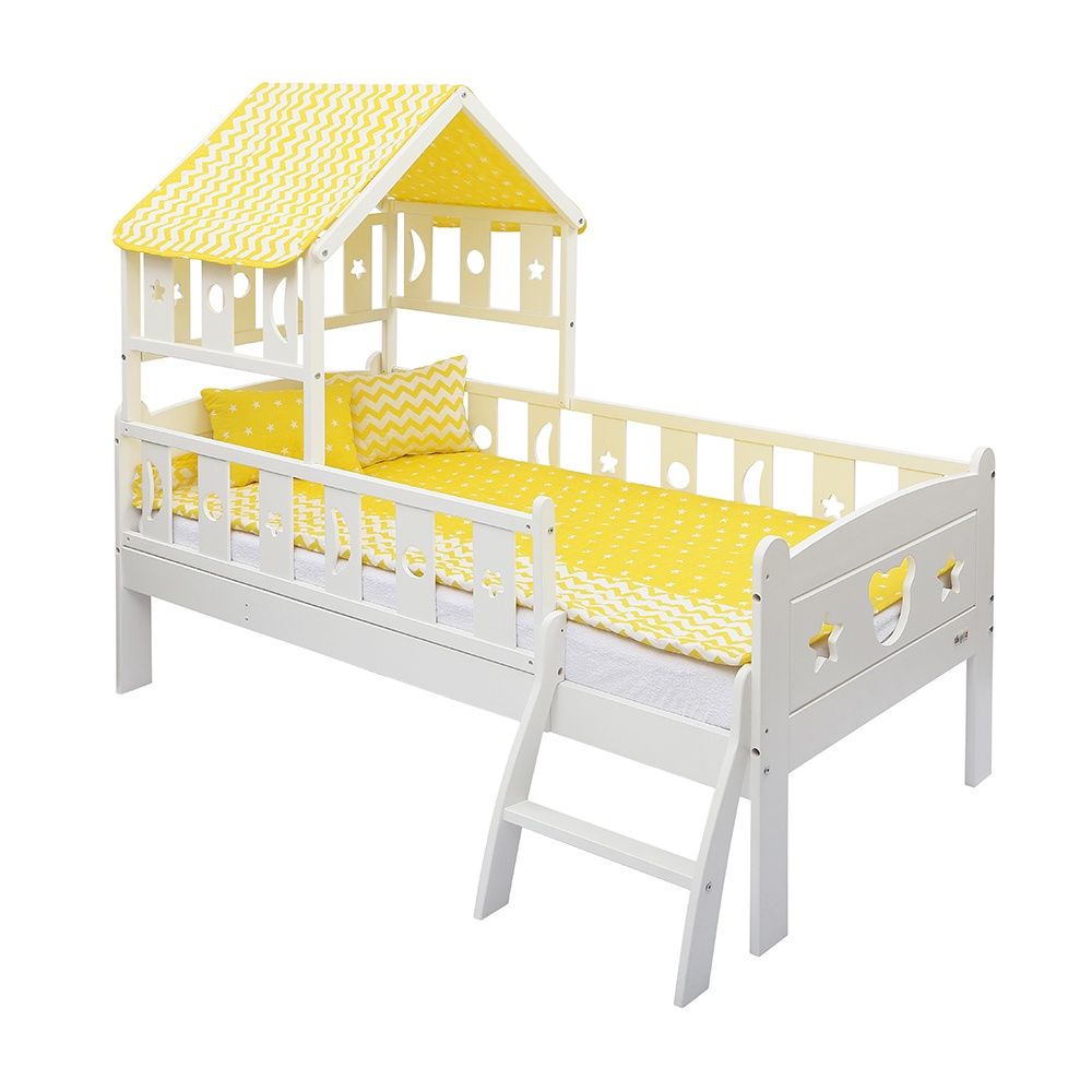 Кровать Giovanni Dommy White YELLOW 160*80см кровать подростковая 160x80см giovanni dommy white blue