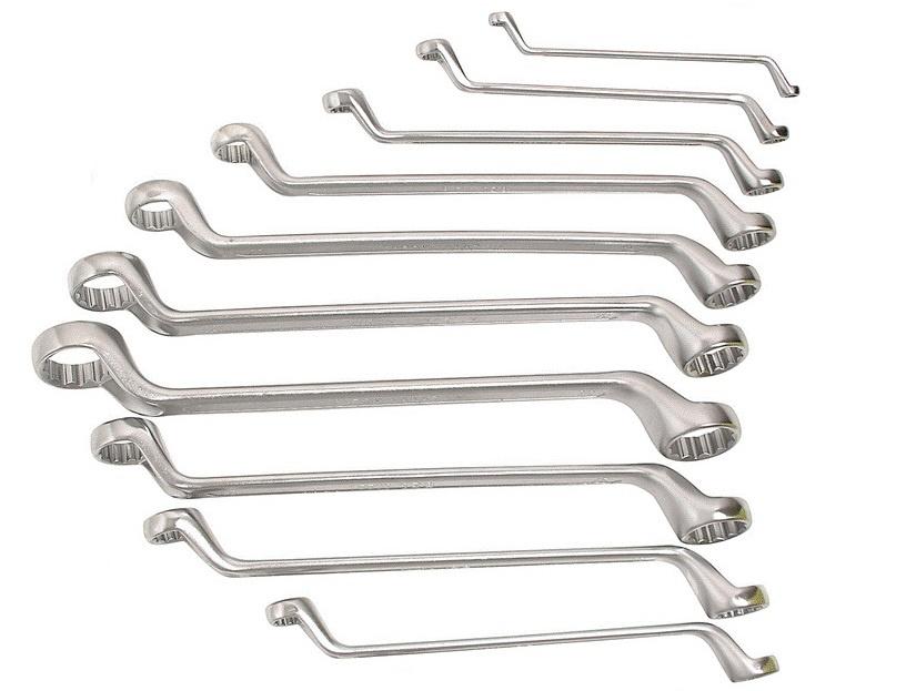 66971 Ключи накидные набор 10пр. 6*7-24*27 мм в пласт. держ. AUTOLUXE