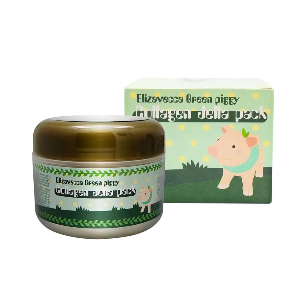 Elizavecca маска для лица коллагеновая Green Piggy Collagen Jella Pack, 100 мл. green piggy collagen