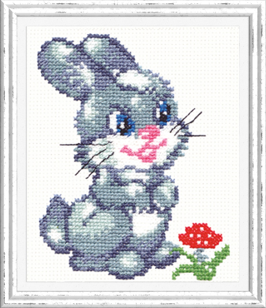 Зайчонок. Набор для вышивания крестом (Чудесная игла) 11 х 14 см. набор для вышивания крестом чудесная игла яркое сияние 8 х 11 см
