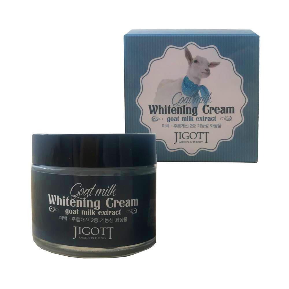 Jigott крем для лица отбеливающий с экстрактом козьего молока Jigott Goat Milk Whitening Cream 70 мл.