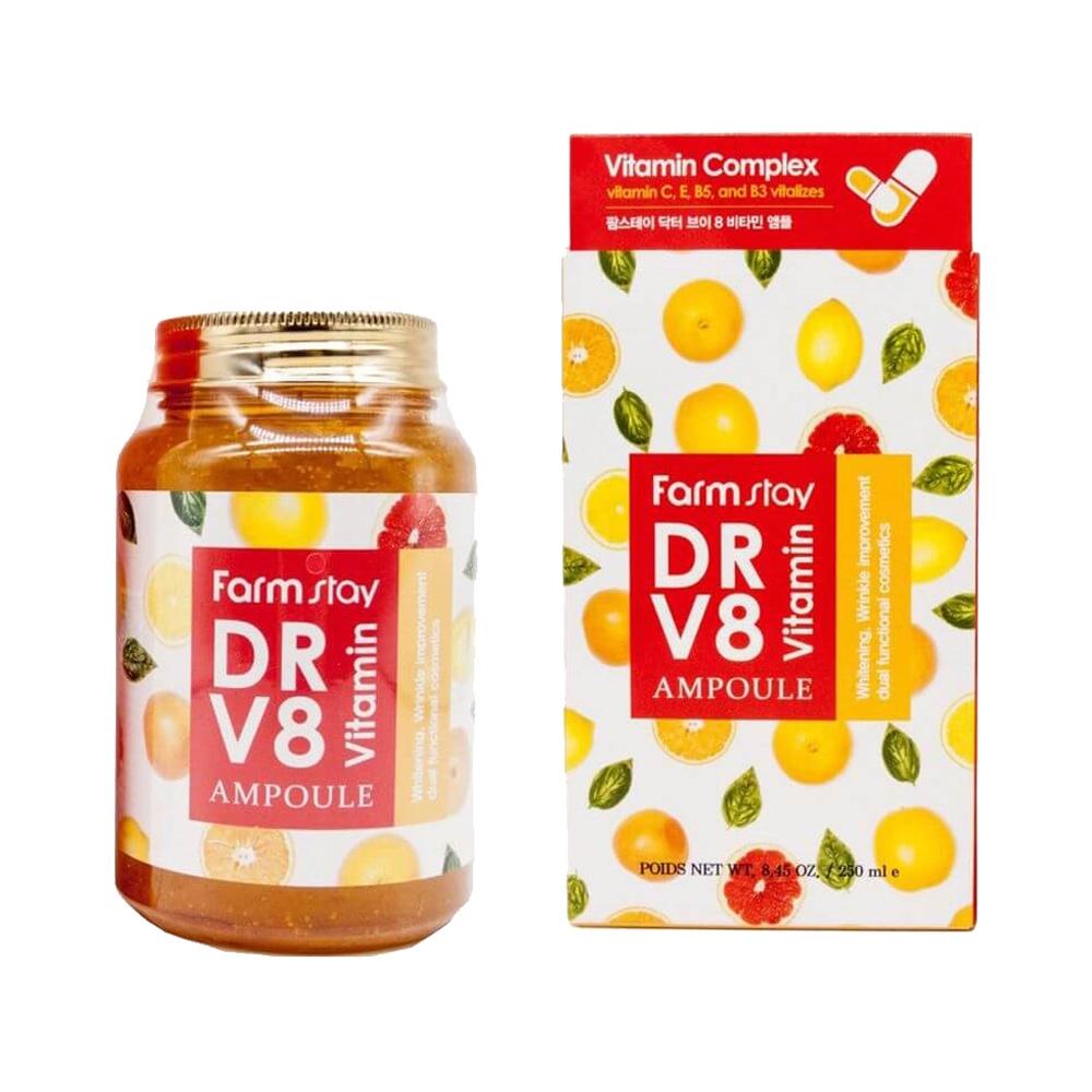Сыворотка для лица FarmStay, ампульная, с витаминами, 250 мл