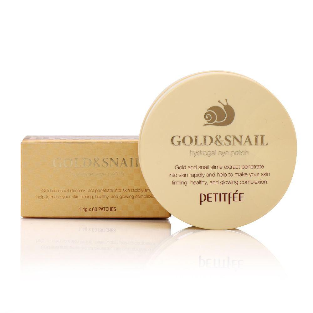 Патчи Petitfee гидрогелевые с золотом и муцином улитки Hydro Gel Eye Patch Gold & Snail, 60 шт. цена