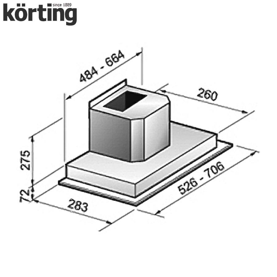 Полновстраиваемая вытяжка Korting KHI 6751 X Korting