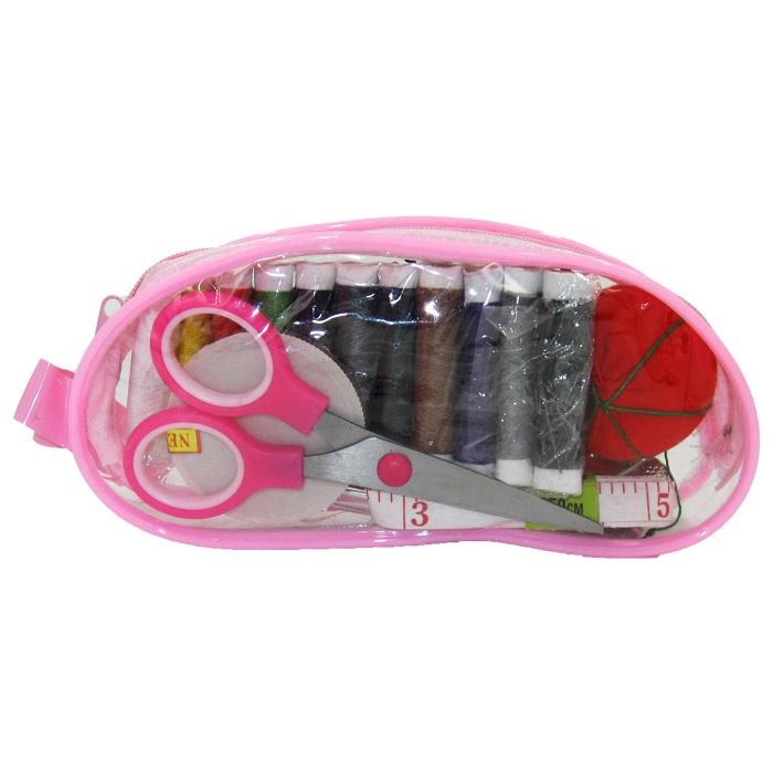 Компактный набор для шитья в прозачной сумочке все для шитья украина
