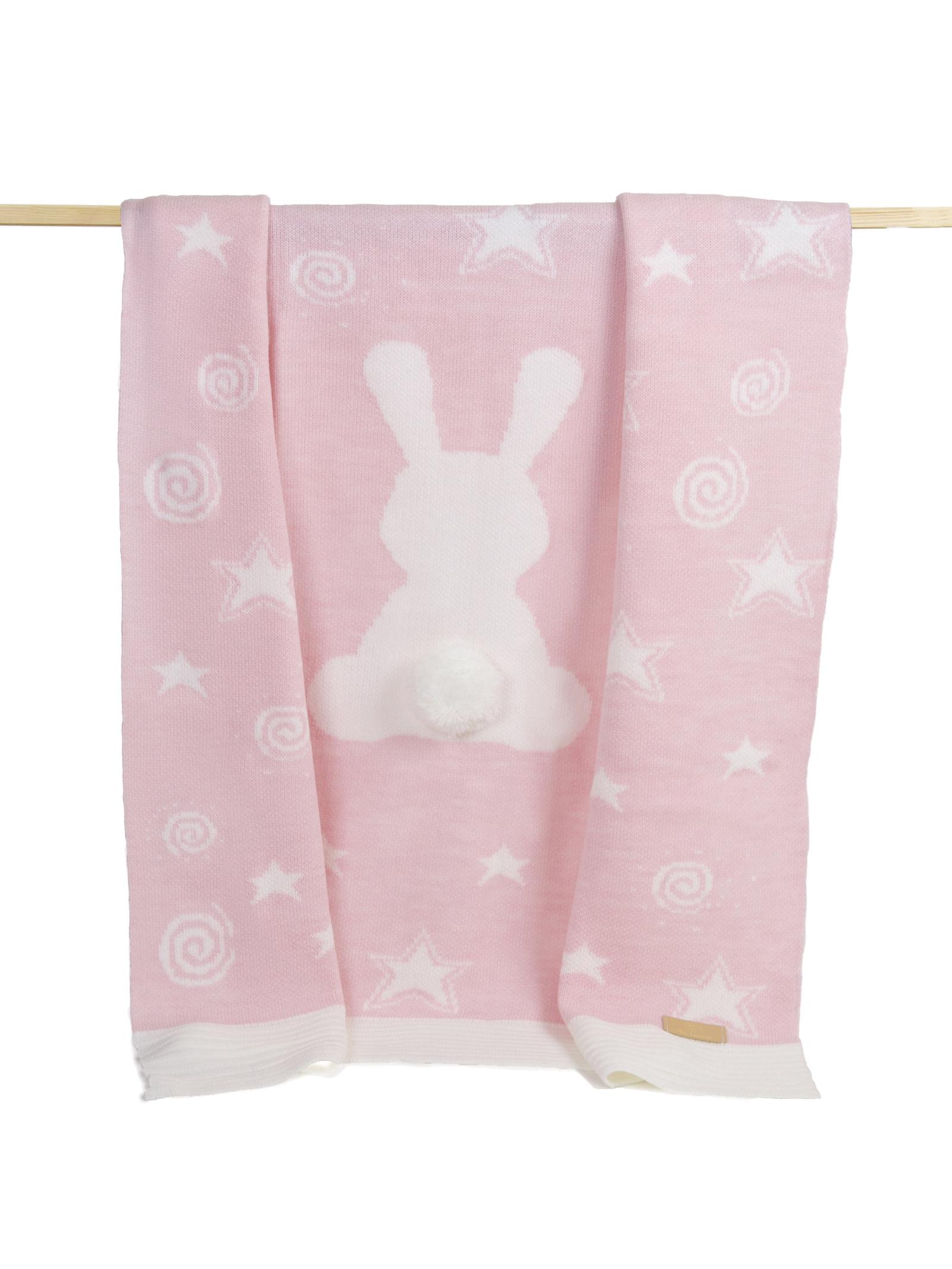 детские кроватки Плед детский Ma Licorne Lapin Rose (розовый), 1х1 м