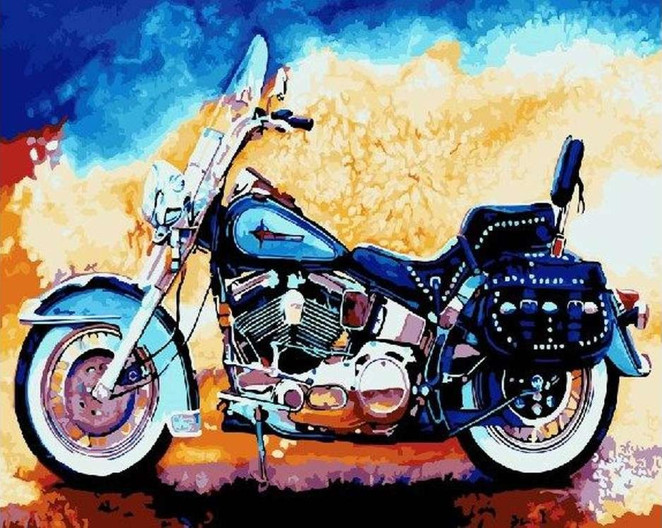 "Картина по номерам Paintboy Original ""Мотоцикл"" 40х50см"