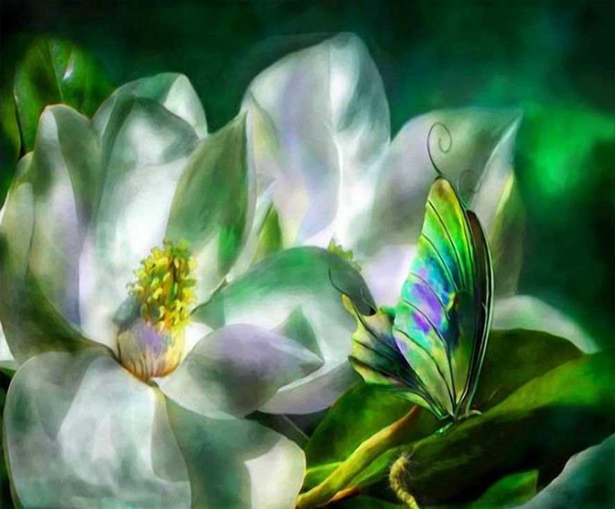 Цветы в картинках фэнтези