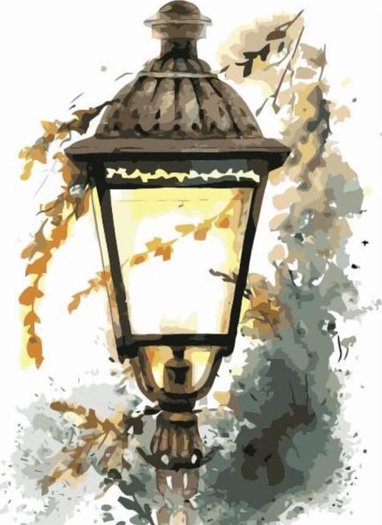 """Картина по номерам Цветной """"Холодная осень"""" 40х50см"""