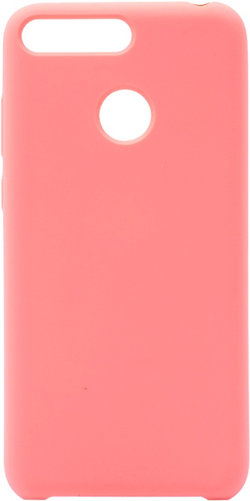 Чехол силиконовый Soft Touch Premium для Huawei Honor 7C / 7A Pro / Y6 Prime 2018 розовый GOSSO CASES