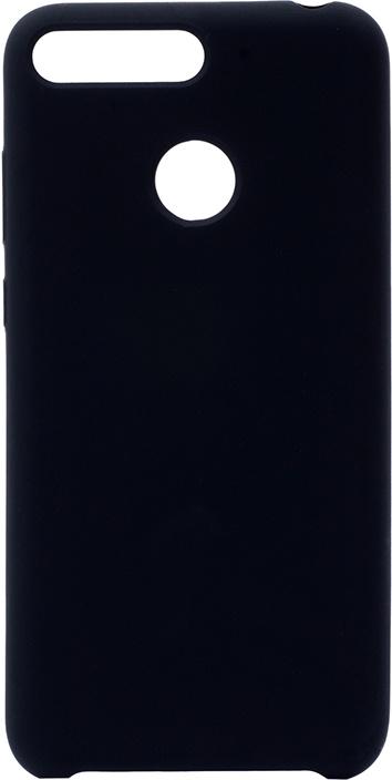 Чехол силиконовый Soft Touch Premium для Huawei Honor 7C / 7A Pro / Y6 Prime 2018 черный GOSSO CASES