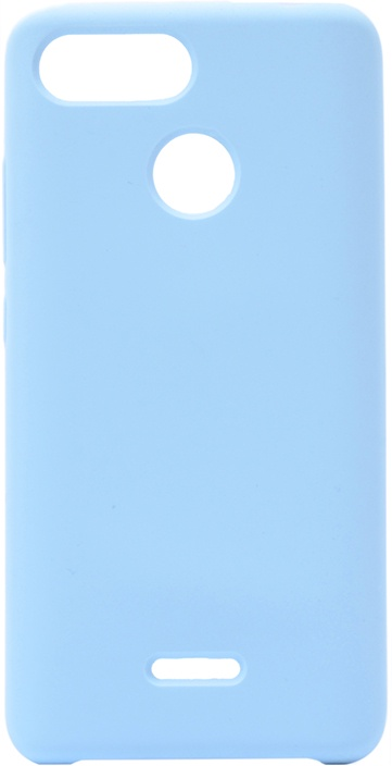 Чехол силиконовый Soft Touch Premium для Xiaomi Redmi 6 голубой GOSSO CASES