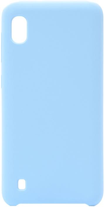 Чехол силиконовый Soft Touch Premium для Samsung Galaxy A10 голубой GOSSO CASES