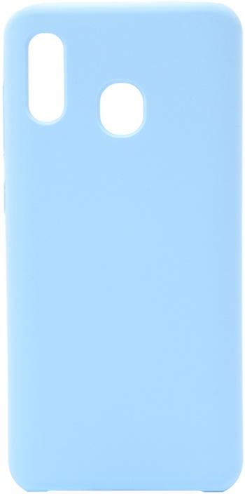 Чехол силиконовый Soft Touch Premium для Samsung Galaxy A20 / A30 голубой GOSSO CASES