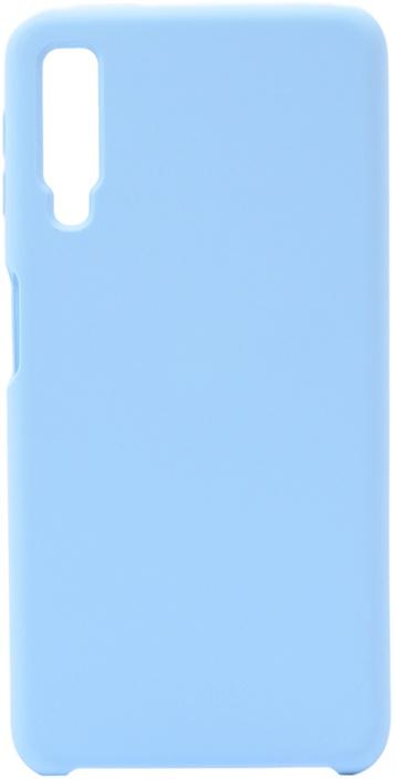 Чехол силиконовый Soft Touch Premium для Samsung Galaxy A7 2018 голубой