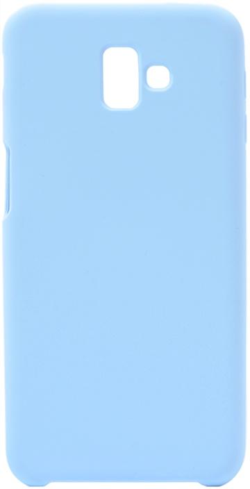 Чехол силиконовый Soft Touch Premium для Samsung Galaxy J6 Plus 2018 голубой GOSSO CASES