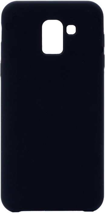 Чехол силиконовый Soft Touch Premium для Samsung Galaxy J6 2018 черный GOSSO CASES