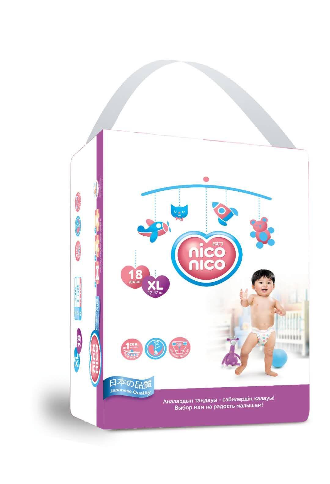 Подгузники Nico Nico XL-Size/18/12-17 kg