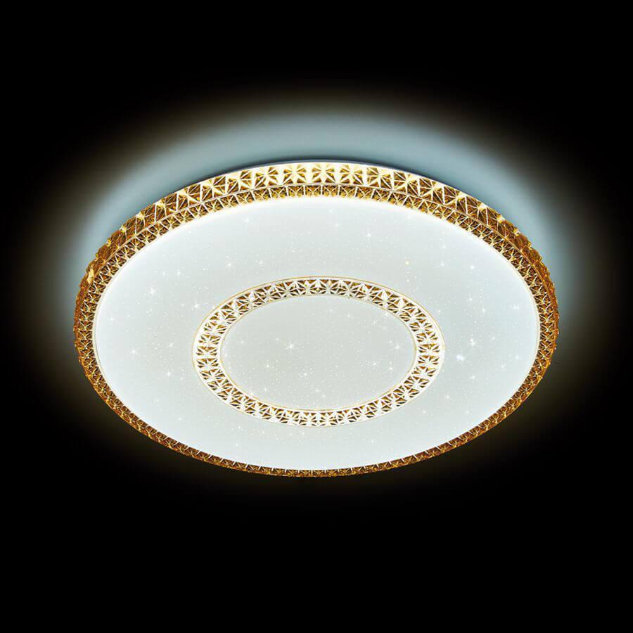 Накладной светильник Ambrella light F99 CF 96W D500, LED, 96 Вт цены онлайн