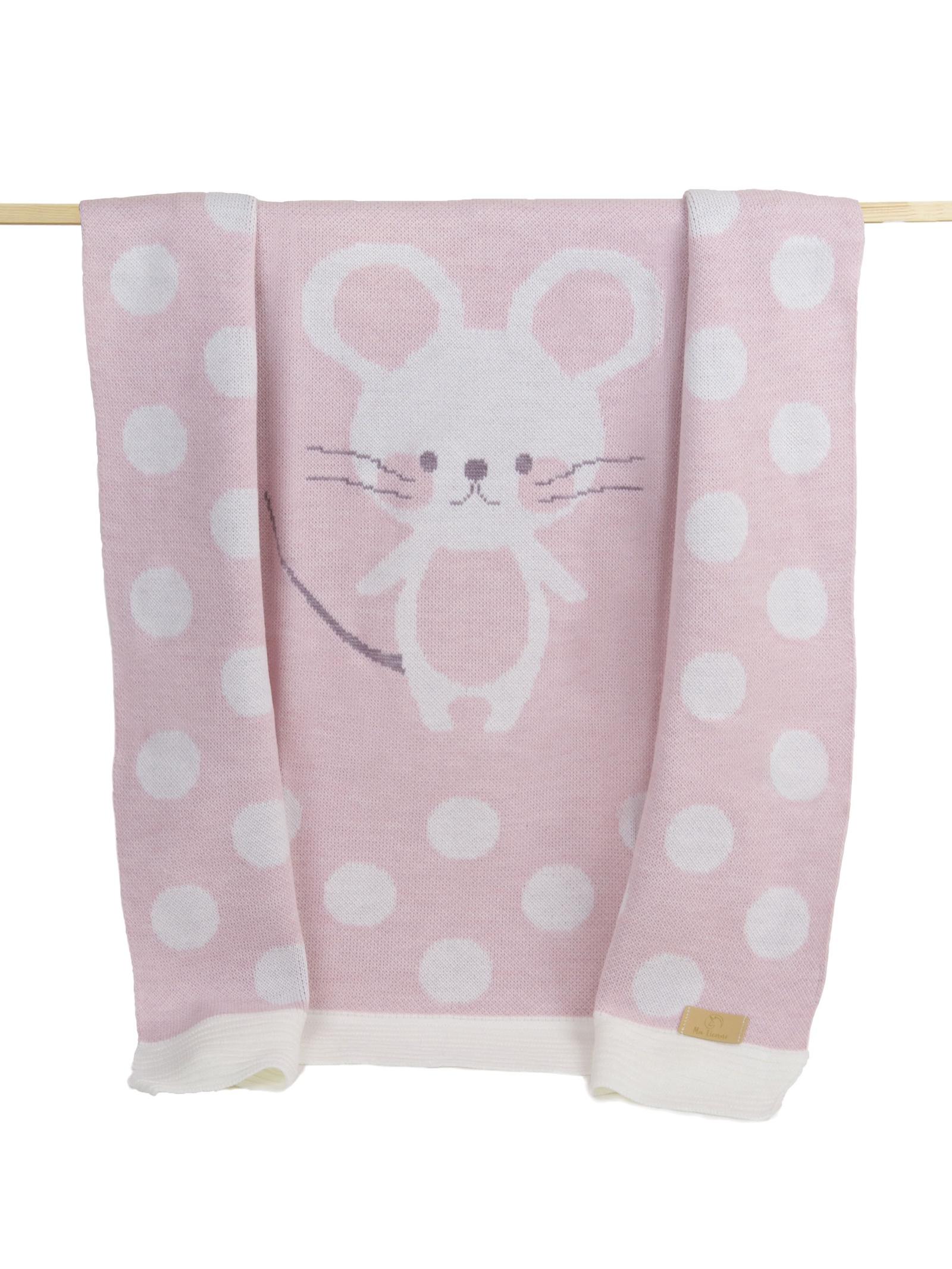 Фото - Плед детский Ma Licorne Petite mickey Rose (розовый), 1х1 м пледы и полотенца