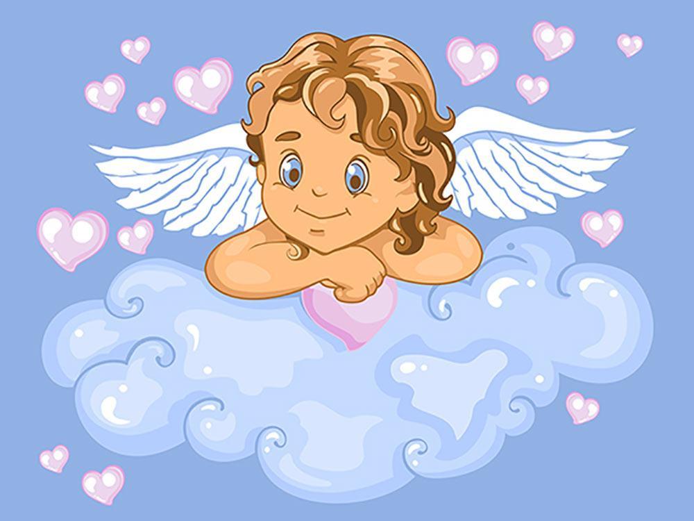 Прикольные рисунки ангела