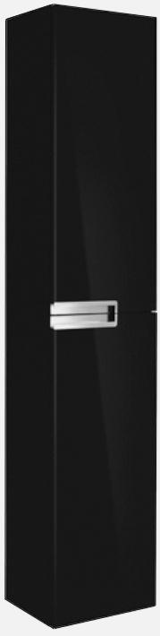 Шкаф-пенал реверсивный, черный Roca Victoria Nord Black ZRU9000095