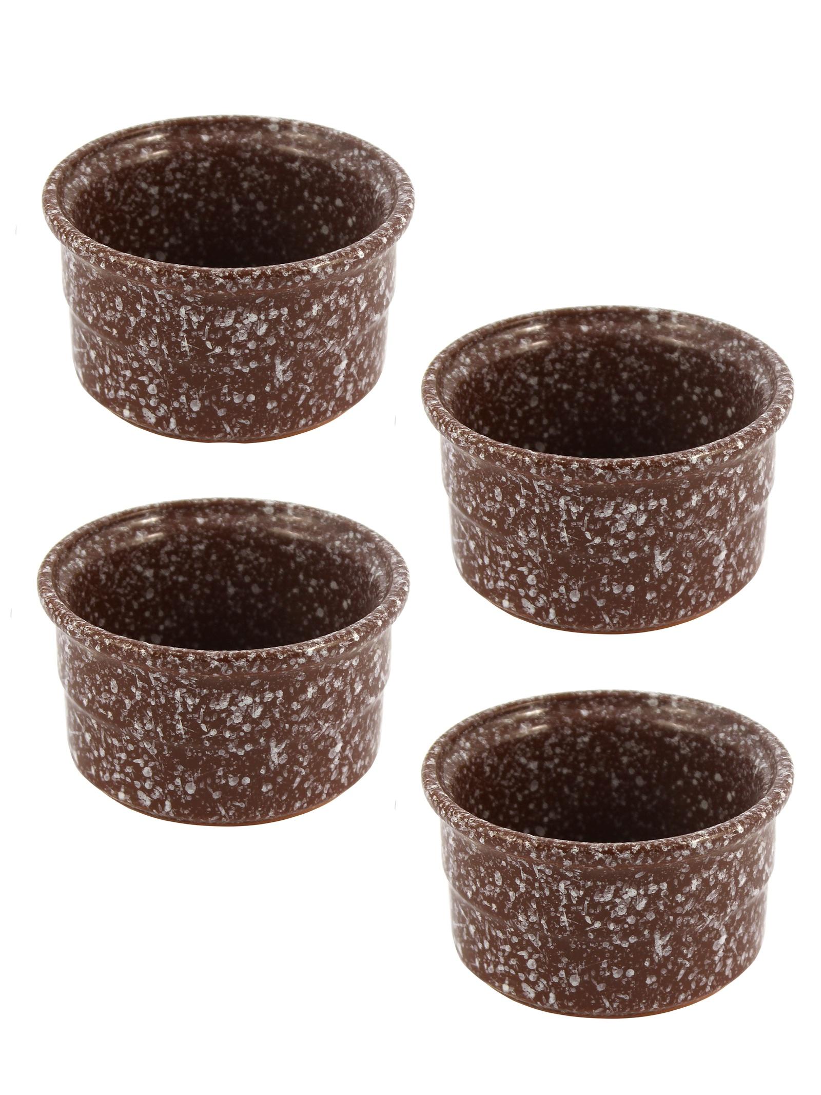 Набор форм для выпечки 4 шт для маффинов и кексов (порционная) (мрамор коричневый)