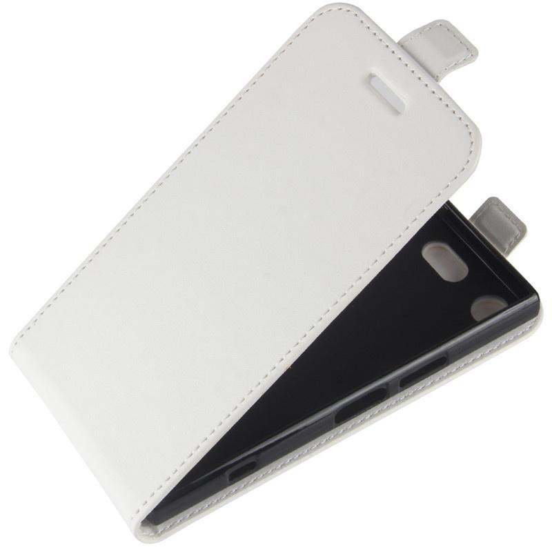 Чехол-флип MyPads для Sony Xperia XZ1 Compact G8441 4.6 вертикальный откидной белый
