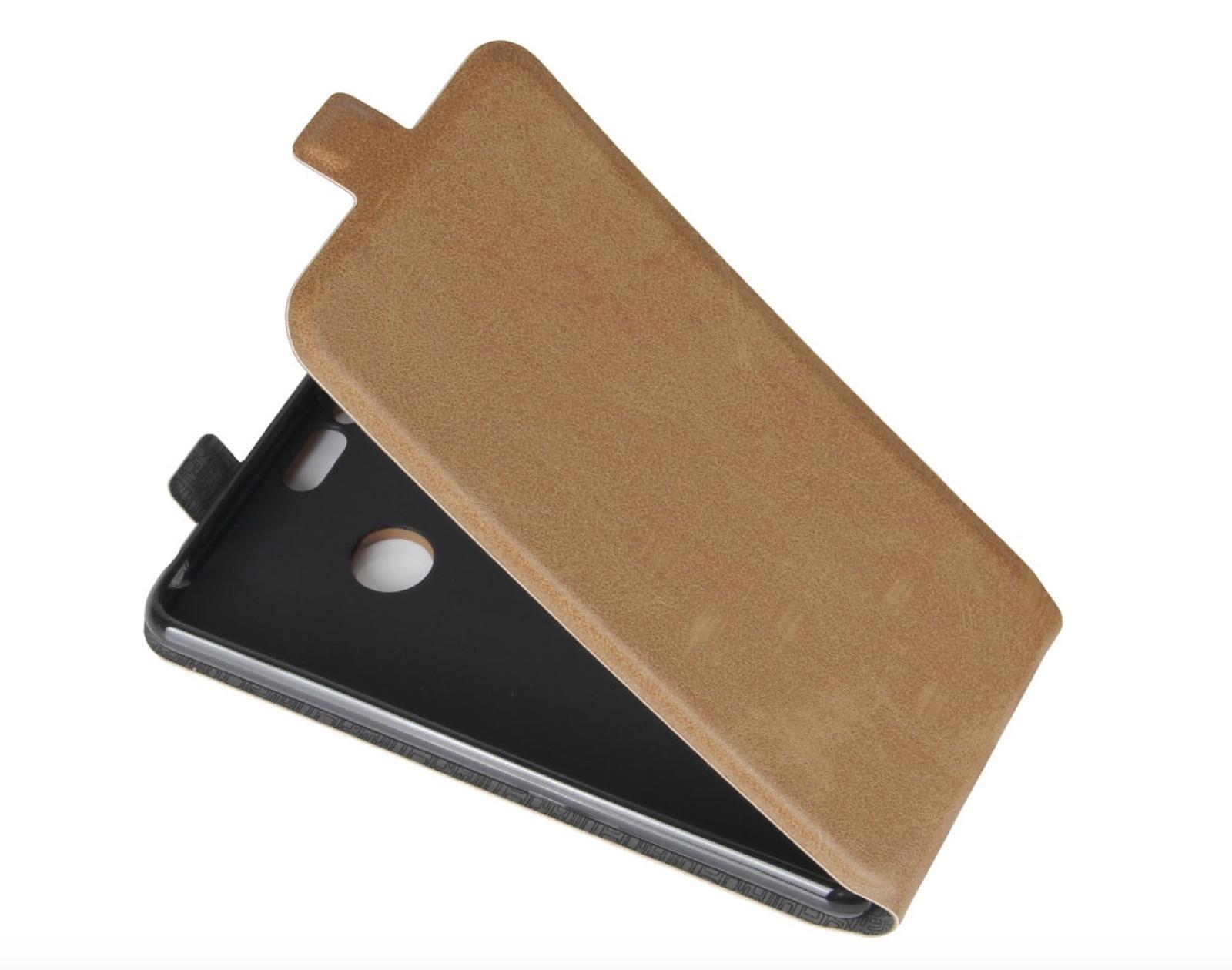 Чехол-флип MyPads для ZTE Blade L5 Plus / ZTE Blade L5 вертикальный откидной коричневый цена и фото