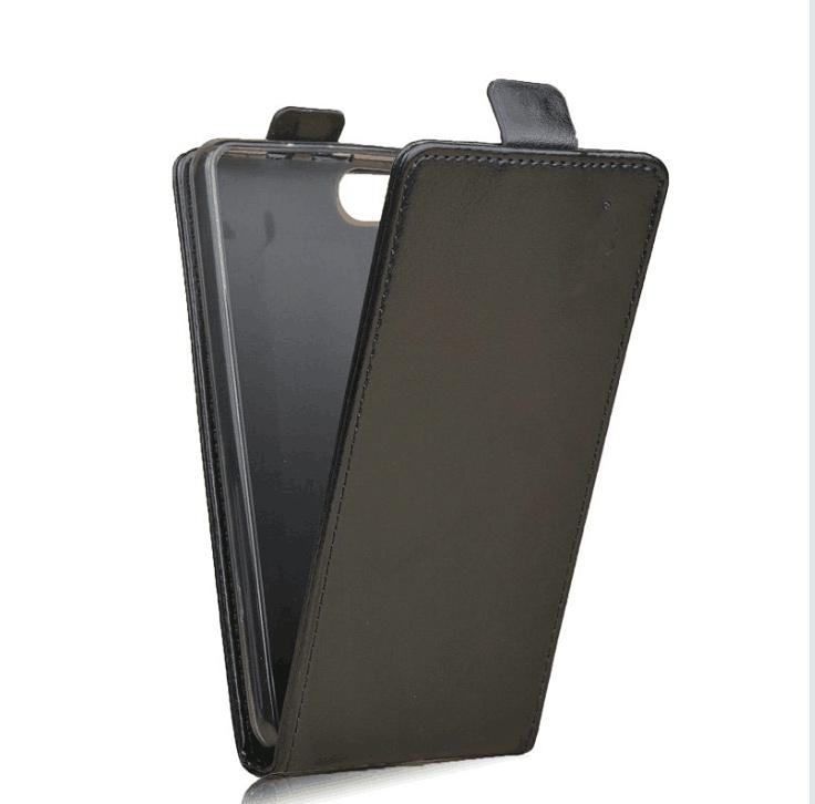 Чехол-флип MyPads для BQ BQS-5020 Strike / BQ Mobile BQS-5020 Strike вертикальный откидной черный